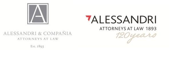 Alessandri's former and new logo